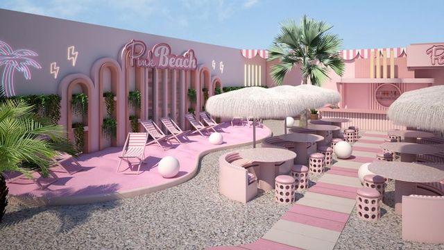 Deze afbeelding heeft een leeg alt-attribuut; de bestandsnaam is pink-beach-wondr-amsterdam-1623073721.jpg